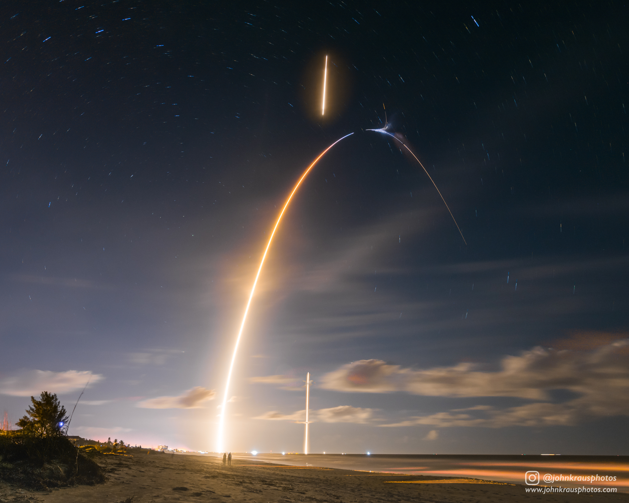 Falcon 9 fly and back